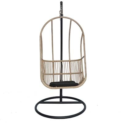 Rattan NaturHanging Chair - Rattan - Aluminium - Garden - Outdoors - Outdoor - Patio - Balcony - Exterior - Dining - Furniture - Steptoes - Paphos - Cyprus