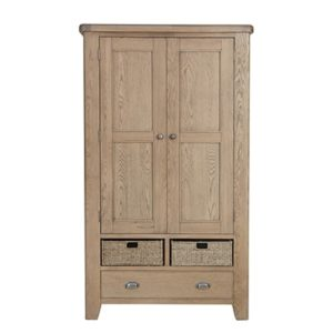 Perth Oak Larder Cabinet - Kitchen Storage - Drinks Cabinet - Cabinet - Storage - Oak - Smoked Oak - Doors - Drawers - Dining - Kitchen - Furniture - Steptoes - Paphos - Cyprus