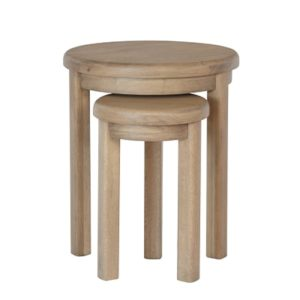 Perth Oak Round Nest of Tables - Nest - Side Tables - Lounge - Side - Lamp Table - Living - Lounge - Furniture - Oak - Smoked Oak - Paphos - Cyprus - Steptoes