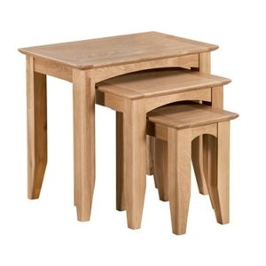 Eva Natural Nest of 3 Tables - Nest - Oak - Wood - Wooden - Living - Side Table - Lounge - Nest of 3 - Furniture - Steptoes - Paphos - Cyprus