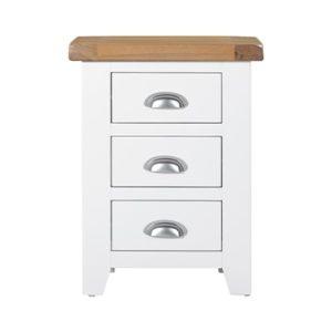 Hartford White Bedside Cabinet - Bedside Cabinet - Night Stand - Drawers - Storage - Bedroom - Unit - Wooden - Oak - Limed Oak - Painted - Bedroom - Furniture - Steptoes - Paphos