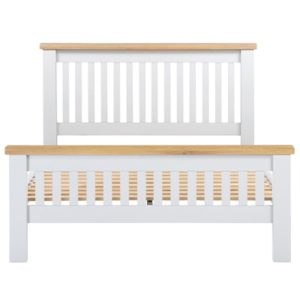 Hartford White Double Size Bed - Wooden - Oak - Pine - White - Painted - Bedroom - Bed - Furniture - Paphos - Cyprus - Steptoes
