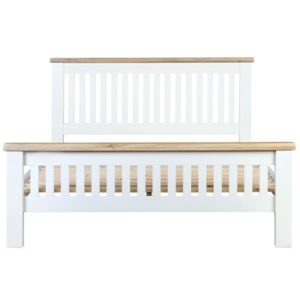 Hartford White King Size Bed - Wooden - Oak - Pine - White - Painted - Bedroom - Bed - Furniture - Paphos - Cyprus - Steptoes