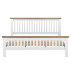 Hartford White SuperKing Size Bed - Wooden - Oak - Pine - White - Painted - Bedroom - Bed - Furniture - Paphos - Cyprus - Steptoes