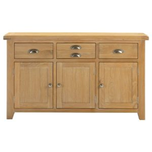Hartford Natural Sideboard - Limed Oak - Grey Limed Oak - Wooden - Oak - Pine - Sideboard - Storage - Drawers - Doors - Unit - Dining - Dining Room - Furniture - Steptoes - Paphos - Cyprus