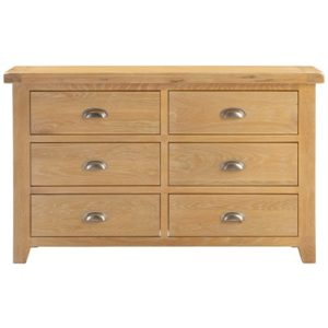 Hartford Natural 6 Drawer Chest - Limed Wash - Grey Limed Oak - Wooden - Oak - Storage - Unit - Bedroom - Furniture - Steptoes - Paphos - Cyprus
