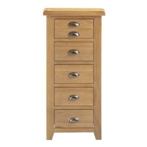 Hartford Natural 5 Drawer Chest - Limed Wash - Grey Limed Oak - Chest - Unit - Storage - Wooden - Oak - Bedroom - Furniture - Steptoes - Paphos - Cyprus
