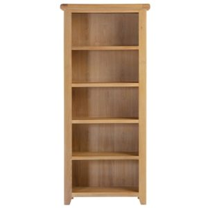 Hartford Natural Tall Bookcase - Limed Wash - Grey Limed Oak - Oak - Pine - Wooden - Bookcase - Tall Bookcase - Storage - Unit - Dining - Living - Occasional - Furniture - Steptoes - Paphos - Cyprus