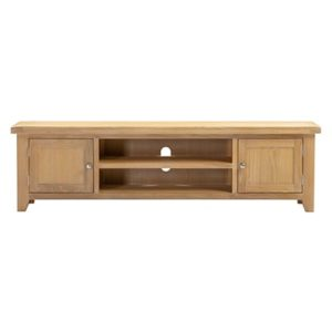 Hartford Natural Extra Large TV Unit - TV Unit - Limed Oak - Grey Limed Oak - Wooden - Oak - Pine - Television Stand - Storage - Unit - Lounge - Living - Furniture - Paphos - Cyprus - Steptoes