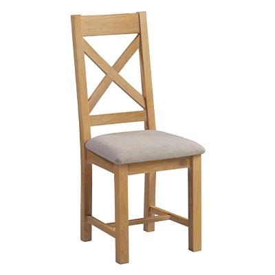 Hartford Natural Dining Chair - Limed Oak - Grey Limed Oak - Oak - Wooden - Oak - Pine - Crossback - Chair - Dining Chair - Dining - Furniture - Steptoes - Paphos - Cyprus