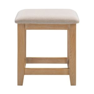 Hartford Natural Stool - Limed Wash - Grey Limed Oak - Oak - Wooden - Fabric - Bedroom Stool - Bedroom - Stool - Furniture - Paphos - Steptoes - Cyprus