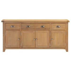 Hartford Natural Large Sideboard - Limed Oak - Grey Limed Oak - Wooden - Oak - Pine - Sideboard - Storage - Drawers - Doors - Unit - Dining - Dining Room - Furniture - Steptoes - Paphos - Cyprus