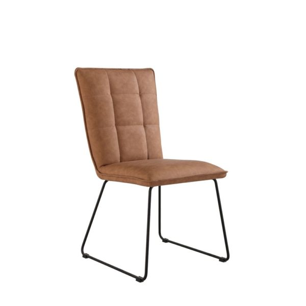Panel Back Dining Chair - Metal - Microfiber - Fabric - Dining - Chair - Modern - Interior - Seat - Furniture - Steptoes - Furniture - Paphos - Cyprus