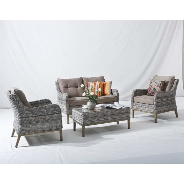 Ritz - Rattan - Aluminium - Coffee Table - Armchair - 2 Seat - Garden Set - Lounge Set - Outdoor Set - UV Protected
