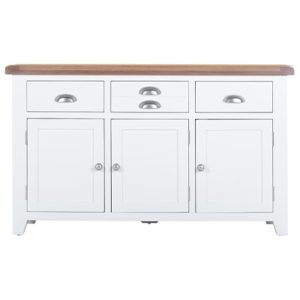 Hartford White Sideboard - Wooden - Oak - Pine - Limed Oak - White - Painted - Drawers - Doors - Dining - Kitchen - Storage - Interior - Sideboard - Unit - Steptoes - Paphos - Cyprus