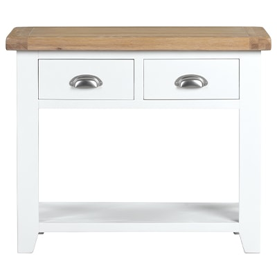 Hartford White Console Table - Wooden - Oak - Pine - White Painted - Drawers - Hall Unit - Storage - Hall - Unit - Interior - Lounge - Living - Dining - Occasional - Furniture - Paphos - Steptoes