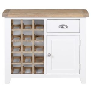 Hartford White Wine Cabinet - Wooden - Oak - Pine - Limed Oak - White - Painted - Drawers - Doors - Dining - Kitchen - Storage - Interior - Sideboard - Unit - Steptoes - Paphos - Cyprus