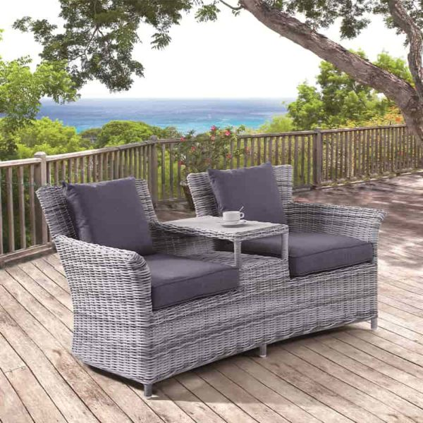 Westminister Loveseat - Garden - Outdoor - Rattan - Aluminium - outdoor furniture - rattan furniture - garden furniture - uv protected