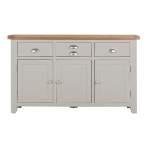 Hartford Grey Large Sideboard - Limed Oak - Grey - Grey Painted - Oak - Pine - Wooden - Solid Wood Furniture - Furniture - Bedroom - Living - Lounge - Dining - Paphos - Cyprus - Steptoes