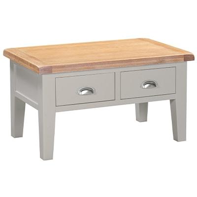 Hartford Grey Coffee Table - Limed Oak - Grey - Grey Painted - Oak - Pine - Wooden - Solid Wood Furniture - Furniture - Bedroom - Living - Lounge - Dining - Paphos - Cyprus - Steptoes