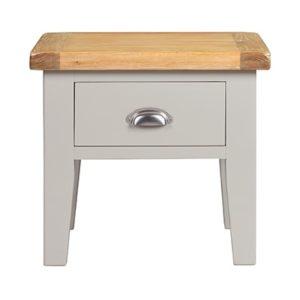 Hartford Grey Lamp Table - Limed Oak - Grey - Grey Painted - Oak - Pine - Wooden - Solid Wood Furniture - Furniture - Bedroom - Living - Lounge - Dining - Paphos - Cyprus - Steptoes