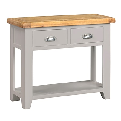 Hartford Grey Console Table - Limed Oak - Grey - Grey Painted - Oak - Pine - Wooden - Solid Wood Furniture - Furniture - Bedroom - Living - Lounge - Dining - Paphos - Cyprus - Steptoes