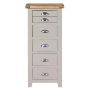 Hartford Grey 5 Drawer Chest - Limed Oak - Grey - Grey Painted - Oak - Pine - Wooden - Solid Wood Furniture - Furniture - Bedroom - Living - Lounge - Dining - Paphos - Cyprus - Steptoes