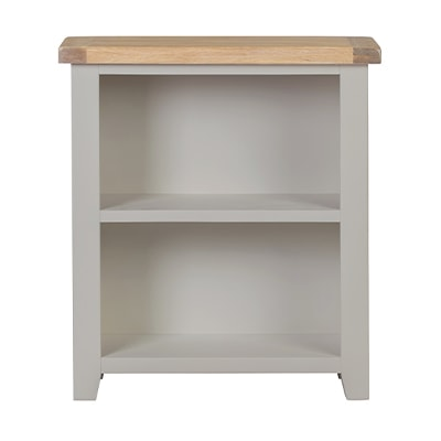 Hartford Grey Low Bookcase - Limed Oak - Grey - Grey Painted - Oak - Pine - Wooden - Solid Wood Furniture - Furniture - Bedroom - Living - Lounge - Dining - Paphos - Cyprus - Steptoes
