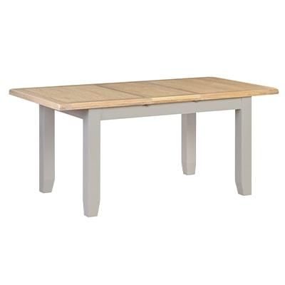 Hartford Grey Large Extending Table - Limed Oak - Grey - Grey Painted - Oak - Pine - Wooden - Solid Wood Furniture - Furniture - Bedroom - Living - Lounge - Dining - Paphos - Cyprus - Steptoes
