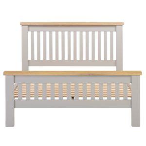 Hartford Grey Double Size Bed - Limed Oak - Grey - Grey Painted - Oak - Pine - Wooden - Solid Wood Furniture - Furniture - Bedroom - Living - Lounge - Dining - Paphos - Cyprus - Steptoes