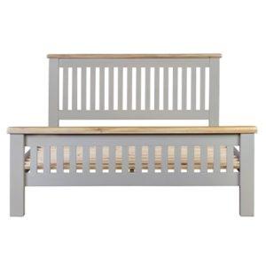 Hartford Grey King Size Bed - Limed Oak - Grey - Grey Painted - Oak - Pine - Wooden - Solid Wood Furniture - Furniture - Bedroom - Living - Lounge - Dining - Paphos - Cyprus - Steptoes
