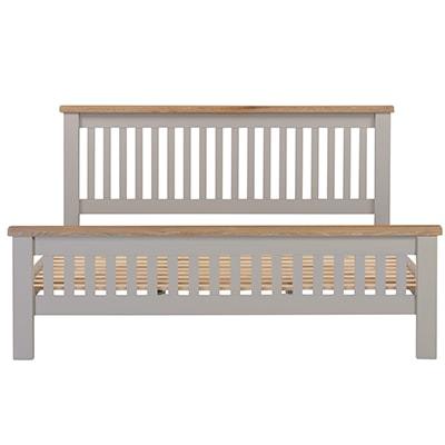 Hartford Grey SuperKing Size Bed - Limed Oak - Grey - Grey Painted - Oak - Pine - Wooden - Solid Wood Furniture - Furniture - Bedroom - Living - Lounge - Dining - Paphos - Cyprus - Steptoes