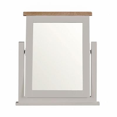 Hartford Grey Vanity Mirror - Limed Oak - Grey - Grey Painted - Oak - Pine - Wooden - Solid Wood Furniture - Furniture - Bedroom - Living - Lounge - Dining - Paphos - Cyprus - Steptoes