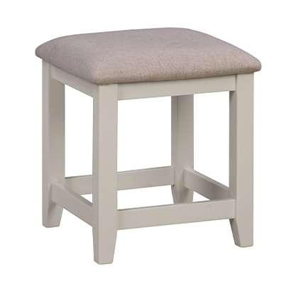 Hartford Grey Stool - Limed Oak - Grey - Grey Painted - Oak - Pine - Wooden - Solid Wood Furniture - Furniture - Bedroom - Living - Lounge - Dining - Paphos - Cyprus - Steptoes