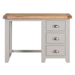 Hartford Grey Dressing Table - Limed Oak - Grey - Grey Painted - Oak - Pine - Wooden - Solid Wood Furniture - Furniture - Bedroom - Living - Lounge - Dining - Paphos - Cyprus - Steptoes