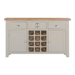 Hartford Grey Large Wine Rack - Limed Oak - Grey - Grey Painted - Oak - Pine - Wooden - Solid Wood Furniture - Furniture - Bedroom - Living - Lounge - Dining - Paphos - Cyprus - Steptoes