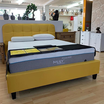 Atlas 4'6 Double Bed - Fabric Bed - Fabric Headboard - Bedroom - Bedroom Furniture - Bed - Modern - Contempory - Sleek - Design - Interior - Comfort - Furniture - Steptoes - Paphos - Cyprus