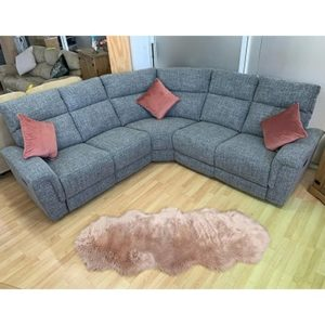 Carlton Fabric Reclining Corner Sofa - Corner - Recliner - Reclining - Crescent - Fabric - Grey - Brown - Sofa - Sofa Set - Lounge - Living - Comfort - Home - Furniture - Steptoes - Paphos - Cyprus