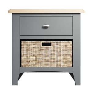 Welby 1 Drawer 1 Basket Unit - Grey Painted - Oak - Grey - Painted - Wooden - Pine - Oak - Dining - Living - Lounge - Kitchen - Bedroom - Furniture - Modern - Interior Design - Furniture - Cyprus - Steptoes