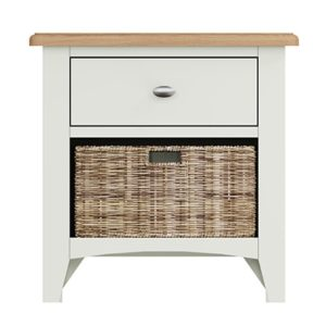 Welby White 1 Drawer 1 Basket Unit - White - White Painted - Pine - Oak - Wooden - House - Home - Interior - Furniture - Bedroom - Living Room - Dining Room - Paphos - Cyprus - Steptoes-
