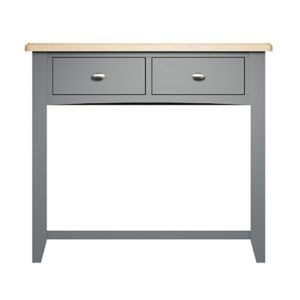 Welby Console Table - Grey Painted - Oak - Grey - Painted - Wooden - Pine - Oak - Dining - Living - Lounge - Kitchen - Bedroom - Furniture - Modern - Interior Design - Furniture - Cyprus - Steptoes