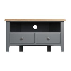 Welby Grey Corner TV Unit - Grey Painted - Oak - Grey - Painted - Wooden - Pine - Oak - Dining - Living - Lounge - Kitchen - Bedroom - Furniture - Modern - Interior Design - Furniture - Cyprus - Steptoes
