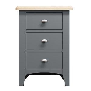 Welby Grey 3 Drawer Beside Cabinet - Grey Painted - Oak - Grey - Painted - Wooden - Pine - Oak - Dining - Living - Lounge - Kitchen - Bedroom - Furniture - Modern - Interior Design - Furniture - Cyprus - Steptoes