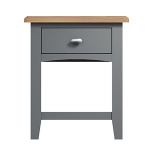 Welby Grey Lamp Table - Grey Painted - Oak - Grey - Painted - Wooden - Pine - Oak - Dining - Living - Lounge - Kitchen - Bedroom - Furniture - Modern - Interior Design - Furniture - Cyprus - Steptoes