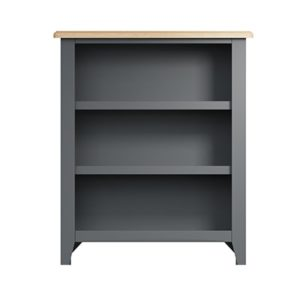 Welby Grey Small Bookcase - Grey Painted - Oak - Grey - Painted - Wooden - Pine - Oak - Dining - Living - Lounge - Kitchen - Bedroom - Furniture - Modern - Interior Design - Furniture - Cyprus - Steptoes