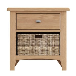 Welby Natural 1 Drawer 1 Basket Unit - Oak - Pine - Wooden - Natural oak - Natural Wood - Farmhouse - Interior - Living - Dining - Lounge - Kitchen - Bedroom - Interior - Furniture - Wooden - Steptoes - Paphos - Cyprus