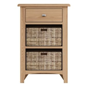 Welby Natural 1 Drawer 2 Basket Unit- Oak - Pine - Wooden - Natural oak - Natural Wood - Farmhouse - Interior - Living - Dining - Lounge - Kitchen - Bedroom - Interior - Furniture - Wooden - Steptoes - Paphos - Cyprus