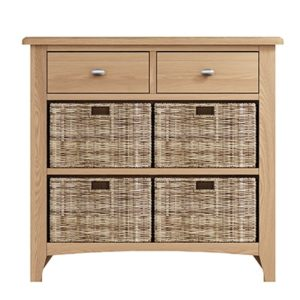 Welby Natural 2 Drawer 2 Basket Unit- Oak - Pine - Wooden - Natural oak - Natural Wood - Farmhouse - Interior - Living - Dining - Lounge - Kitchen - Bedroom - Interior - Furniture - Wooden - Steptoes - Paphos - Cyprus