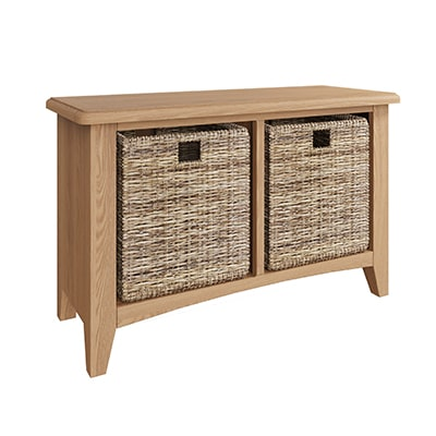 Welby Natural Hall Bench - Oak - Pine - Wooden - Natural oak - Natural Wood - Farmhouse - Interior - Living - Dining - Lounge - Kitchen - Bedroom - Interior - Furniture - Wooden - Steptoes - Paphos - Cyprus