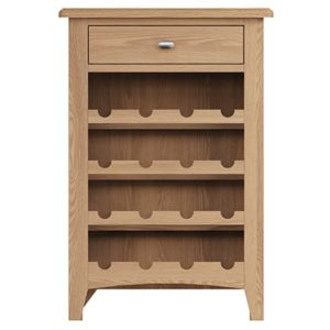 Welby Natural Wine Cabinet - Oak - Pine - Wooden - Natural oak - Natural Wood - Farmhouse - Interior - Living - Dining - Lounge - Kitchen - Bedroom - Interior - Furniture - Wooden - Steptoes - Paphos - Cyprus